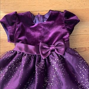 Purple and gold formal dress